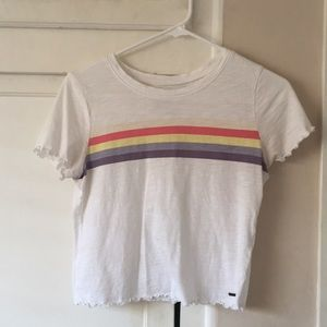Hollister WHITE  must have collection t-shirt